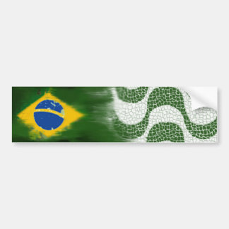 Brazil and the Copacabana sidewalk Bumper Sticker