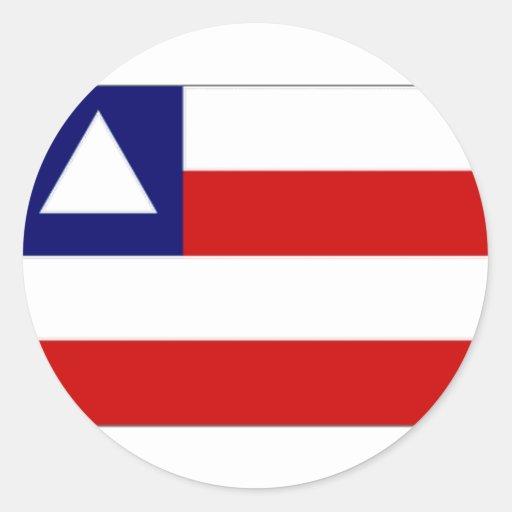 Brazil Bahia Flag Round Sticker