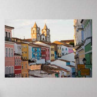 Brazil, Bahia, Salvador, The Oldest City Poster