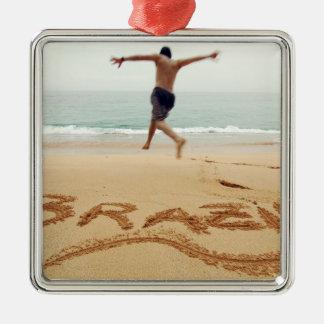 BRAZIL. Barechest man wearing a swimming suit Christmas Ornament