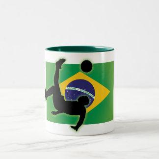 Brazil Bicycle Kick Two-Tone Coffee Mug