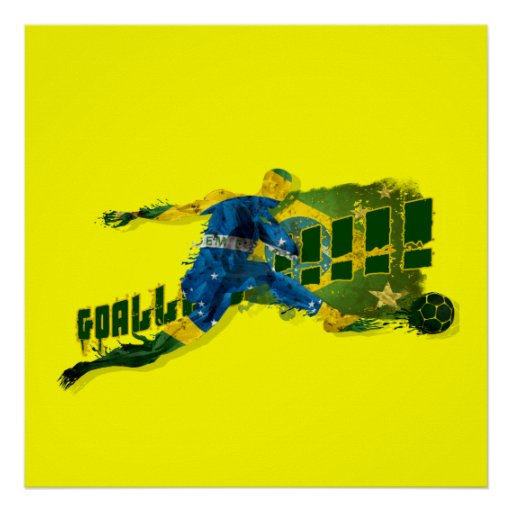 Brazil blood flesh and glory soccer futebol sports poster