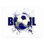 Brazil blue Brazilian soccer lovers gifts Post Card