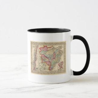 Brazil, Bolivia, Paraguay, Uruguay Map by Mitchell Mug