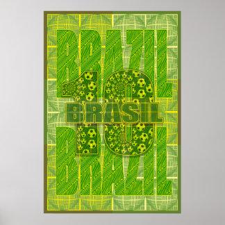 Brazil Brasil  Amazon Inspired Soccer 10 Sports Poster
