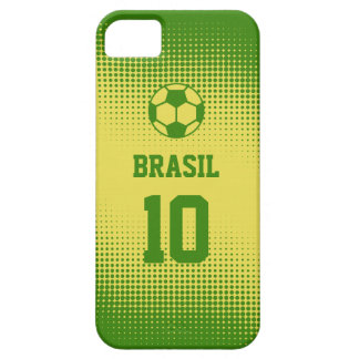 Brazil Brasil Football with Custom Text Number iPhone 5 Cases