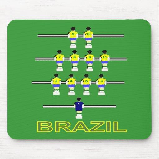 Brazil Brasil retro 1970 Table football fusball Mousepads