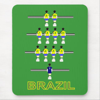 Brazil Brasil retro 1970 Table football fusball Mouse Pad