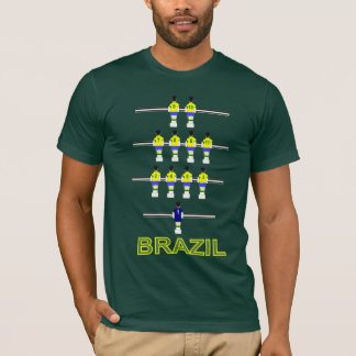 Brazil Brasil retro 1970 Table football fusball T-Shirt
