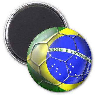 Brazil Brasil Samba football Brazilian flag ball 6 Cm Round Magnet