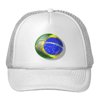 Brazil Brasil Samba football Brazilian flag ball Cap