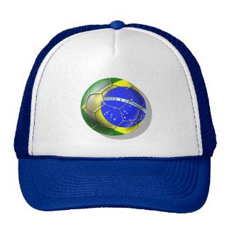 Brazil Brasil Samba football Brazilian flag ball Mesh Hat