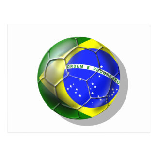 Brazil Brasil Samba football Brazilian flag ball Postcard