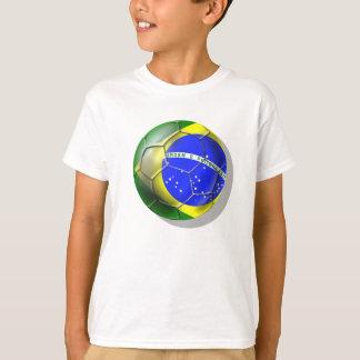 Brazil Brasil Samba football Brazilian flag ball T-Shirt