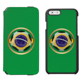 Brazil / Brasil Soccer Ball Incipio Watson™ iPhone 6 Wallet Case