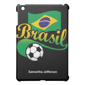 Brazil Brasil Soccer Ball with Flag iPad Case