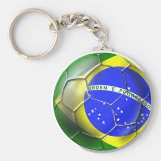Brazil Brasil world football Brazilian soccer Basic Round Button Key Ring