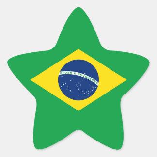 Brazil/Brazilian Flag Star Sticker
