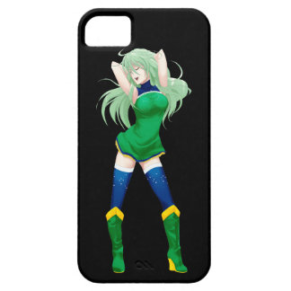 Brazil Brazilian Manga Flag girl iPhone 5 Cases