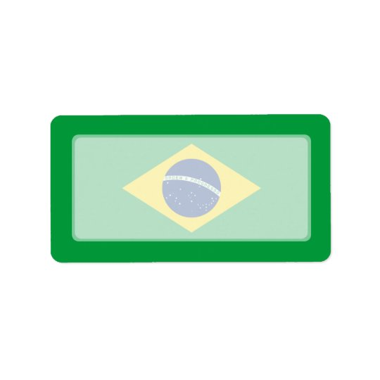 Brazil – Brazilian National Flag Label