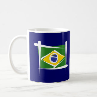 Brazil Brush Flag Basic White Mug