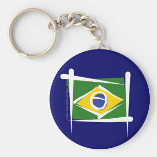 Brazil Brush Flag Key Ring