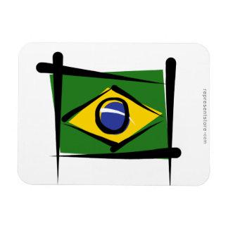 Brazil Brush Flag Rectangular Photo Magnet