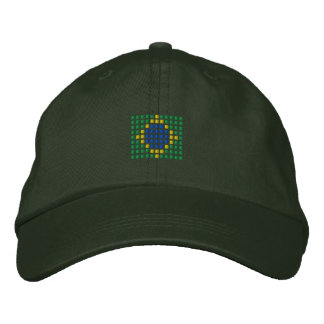 Brazil Cap - Brazilian Flag Hat Embroidered Baseball Cap