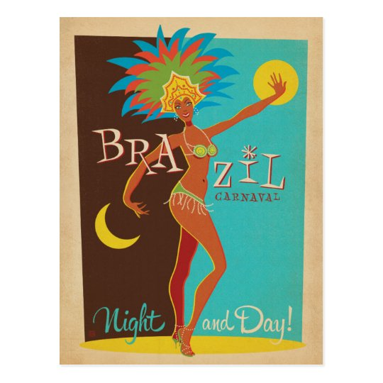 Brazil Carnaval | Night and Day! Postcard