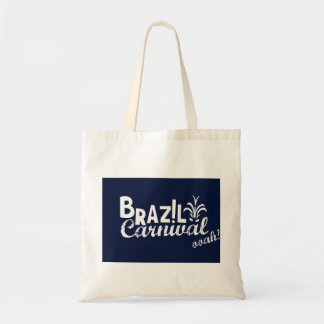 Brazil Carnival ooah! Shopping Blue Budget Tote Bag