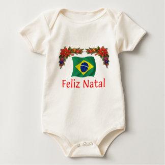 Brazil Christmas Baby Bodysuit