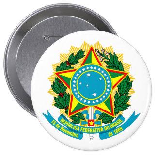 Brazil COA 10 Cm Round Badge