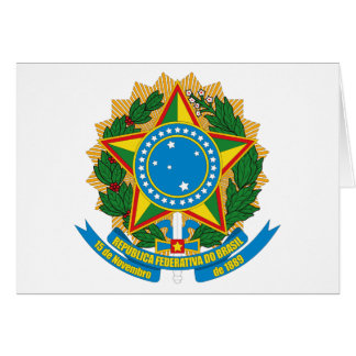 Brazil Coat of Arms Greeting Card
