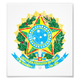 Brazil Coat Of Arms Photographic Print