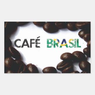 Brazil coffee rectangular sticker