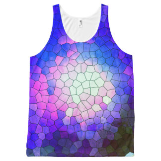 Brazil collection - Thewalk- Blue version- Unissex All-Over Print Tank Top