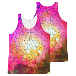 Brazil collection - Thewalk- Pink version- Unissex All-Over Print Tank Top