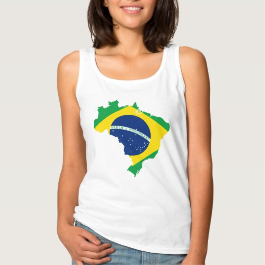 Brazil Country and Flag Women's Tank Top