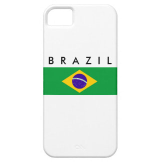 Brazil country flag nation symbol name text iPhone 5 covers