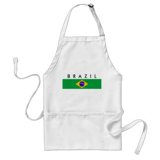 Brazil country flag nation symbol name text standard apron