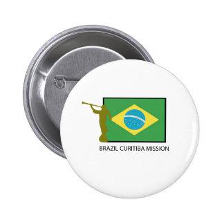 BRAZIL CURITIBA MISSION LDS 6 CM ROUND BADGE