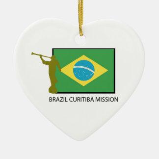 BRAZIL CURITIBA MISSION LDS CERAMIC HEART DECORATION