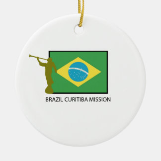 BRAZIL CURITIBA MISSION LDS Double-Sided CERAMIC ROUND CHRISTMAS ORNAMENT