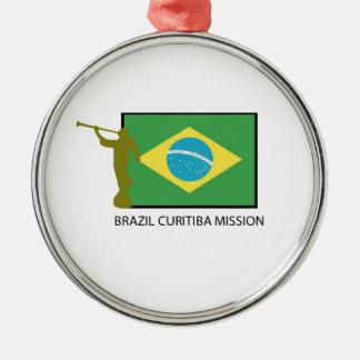 BRAZIL CURITIBA MISSION LDS Silver-Colored ROUND DECORATION