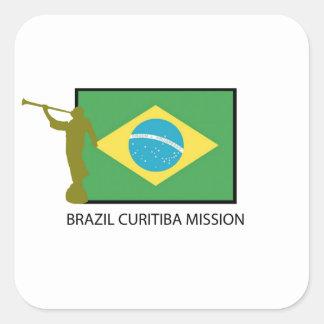 BRAZIL CURITIBA MISSION LDS SQUARE STICKERS