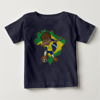 Brazil Dabbing Soccer  Association football Dab Baby T-Shirt
