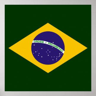 Brazil diamond - emblem of the Brazilian flag Print