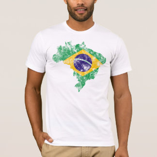 Brazil Distressed Flag T-Shirt