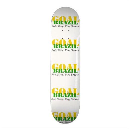 Brazil - Eat Sleep Play Soccer Skate Deck