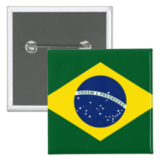 Brazil flag 15 cm square badge